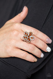 Gardens Of Grandeur - Brown Paparazzi Ring - Glitzygals5dollarbling Paparazzi Boutique