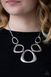 Backstreet Bandit - silver - Paparazzi necklace - Glitzygals5dollarbling Paparazzi Boutique