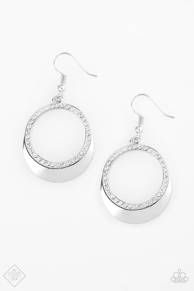 "Paparazzi ""Pretty Pampered"" White Earrings Fashion Fix Exclusive - Glitzygals5dollarbling Paparazzi Boutique"