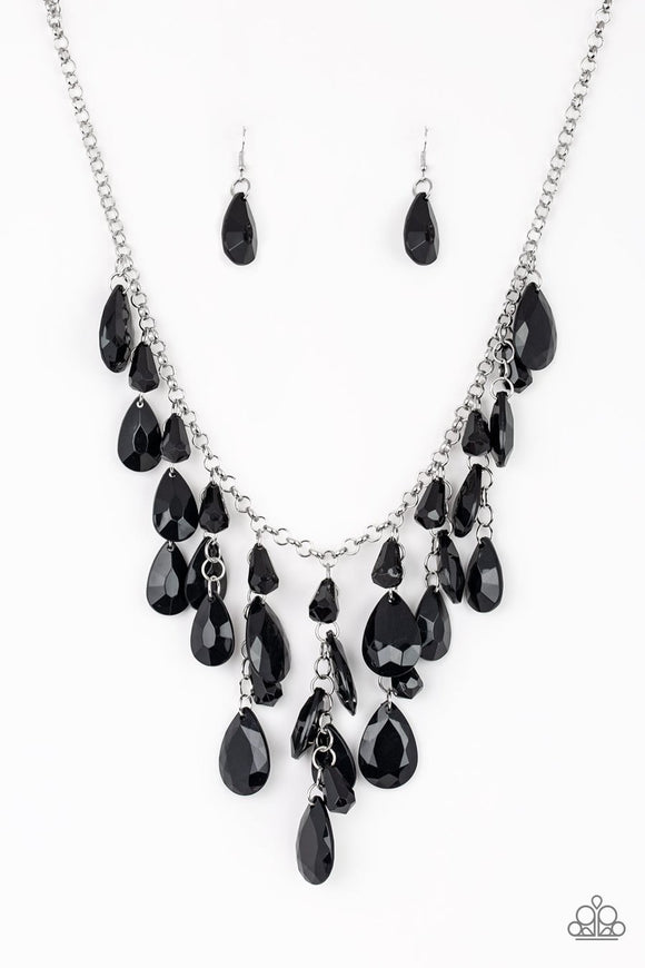 Paparazzi Irresistible Iridescence Black Necklace Set