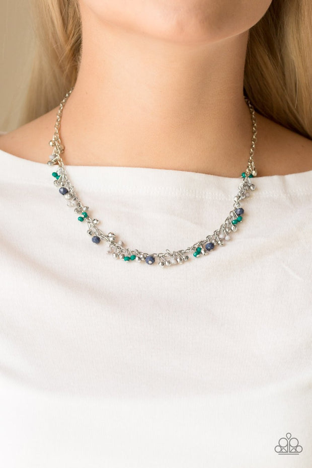 Sailing The Seven Seas - Blue - Necklace - Glitzygals5dollarbling Paparazzi Boutique