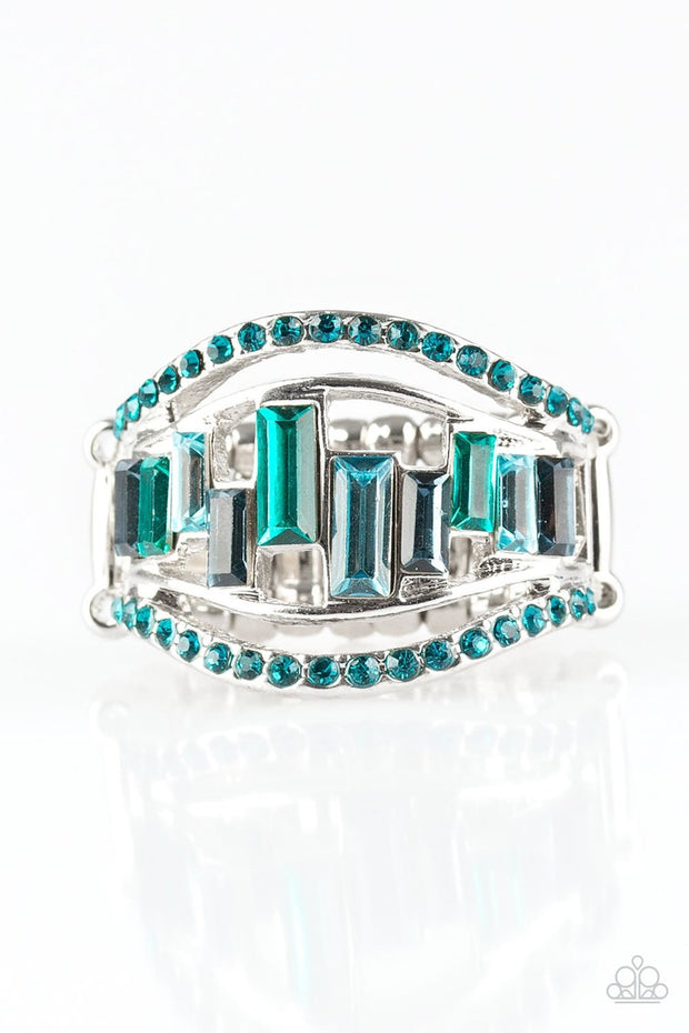 Paparazzi Treasure Chest Charm Blue Ring - Glitzygals5dollarbling Paparazzi Boutique