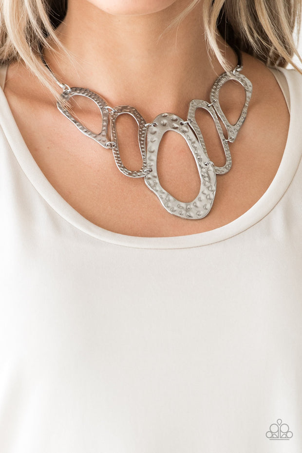 Paparazzi Prime Prowess Silver Necklace - Glitzygals5dollarbling Paparazzi Boutique