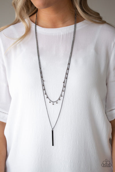 Paparazzi Keep Your Eye On The Pendulum - Black Necklace - Glitzygals5dollarbling Paparazzi Boutique