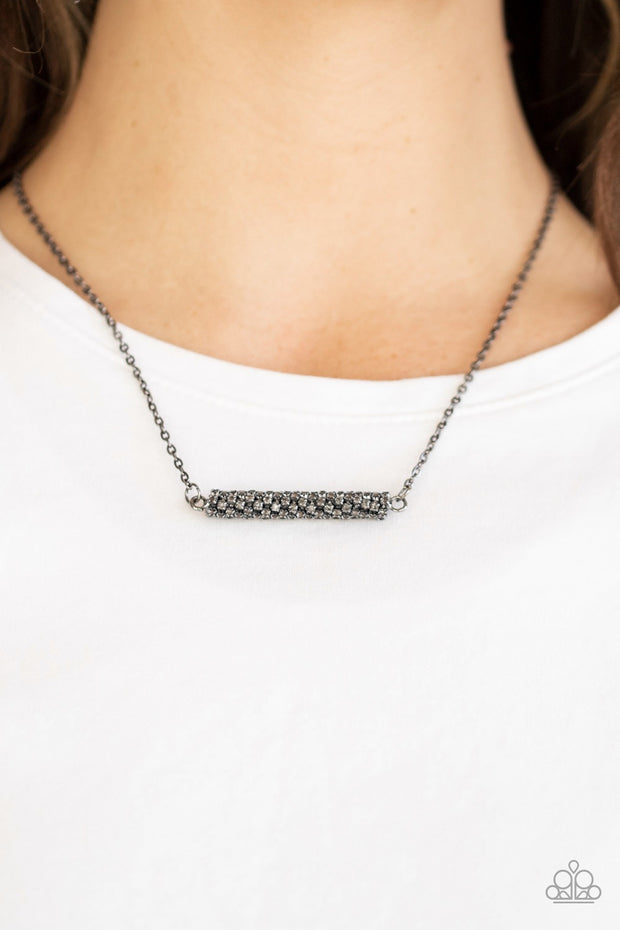 PREORDER PAPARAZZI Timelessly Twinkling - Black Necklace