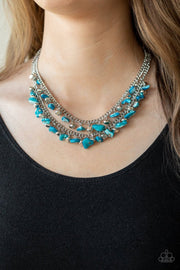 Pebble Pioneer - blue - Paparazzi necklace - Glitzygals5dollarbling Paparazzi Boutique
