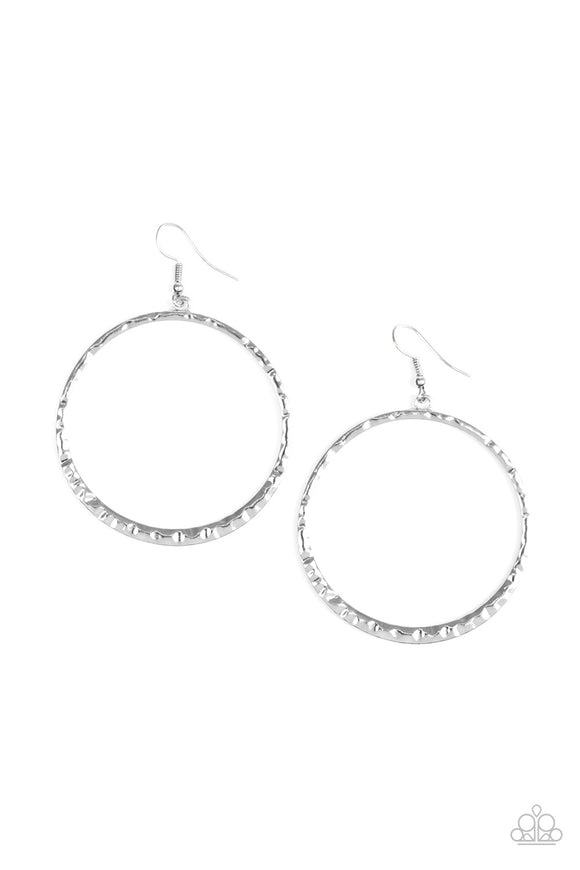 Paparazzi So Sleek Silver Earrings