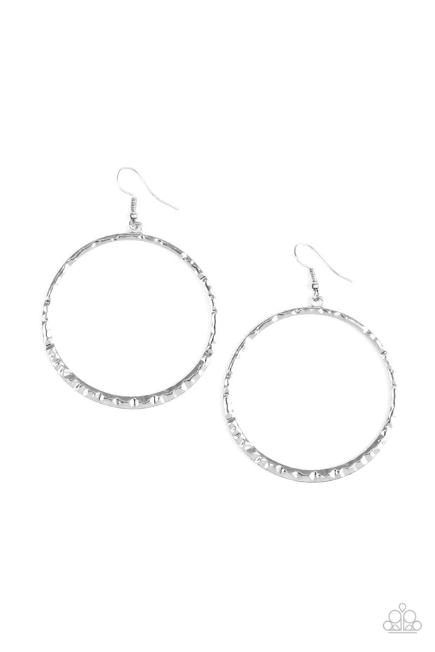 Paparazzi So Sleek Silver Earrings - Glitzygals5dollarbling Paparazzi Boutique