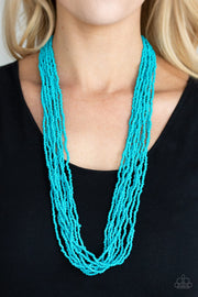 Paparazzi Congo Colada - Blue Turquoise - Seed Beads - Necklace and matching Earrings - Glitzygals5dollarbling Paparazzi Boutique