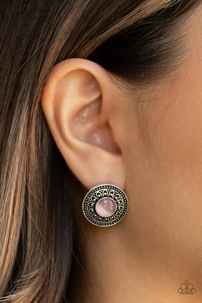 Fine Flora - pink - Paparazzi earrings - Glitzygals5dollarbling Paparazzi Boutique
