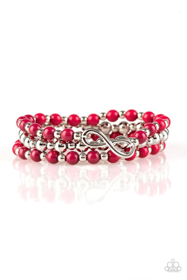 "Paparazzi ""Immeasurably Infinite"" Pink Bracelet infinity - Glitzygals5dollarbling Paparazzi Boutique"