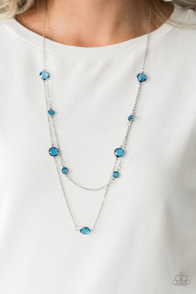 Paparazzi Raise Your Glass - Blue Gems - Necklace and matching Earrings - Glitzygals5dollarbling Paparazzi Boutique