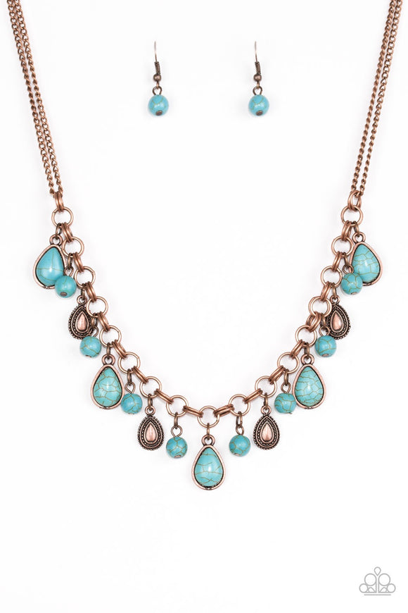Paparazzi Welcome To Bedrock Copper Necklace