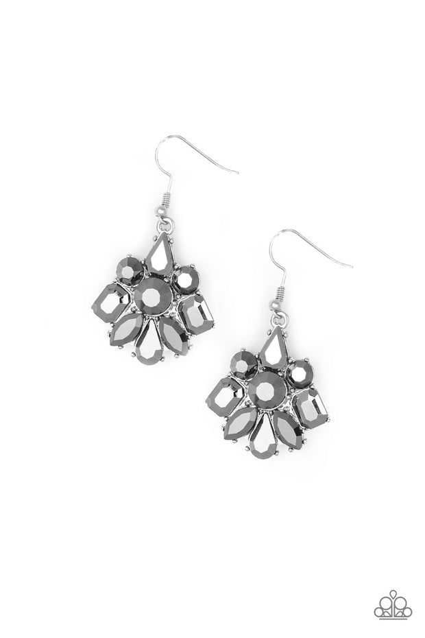 "Paparazzi ""Fiercely Famous"" Silver Earrings - Glitzygals5dollarbling Paparazzi Boutique"