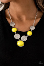 Paparazzi Bohemian Bombshell - Yellow Necklace - Glitzygals5dollarbling Paparazzi Boutique