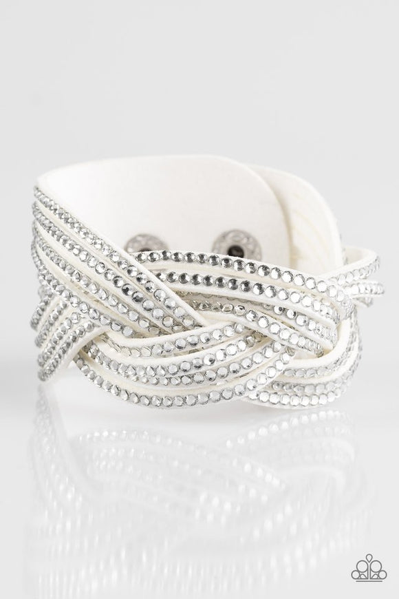 Paparazzi Big City Shimmer White Bracelet