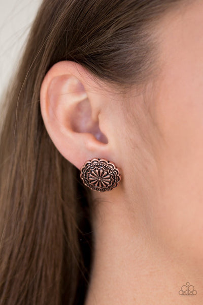 Paparazzi Durango Desert - Copper Earrings