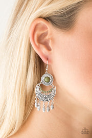 Paparazzi Mantra to Mantra Green Earrings - Glitzygals5dollarbling Paparazzi Boutique