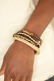 Paparazzi Woodland Wayfarer - Brown Urban Bracelet