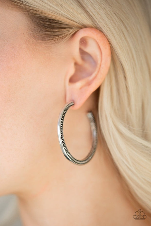 This Is My Tribe - silver - Paparazzi earrings