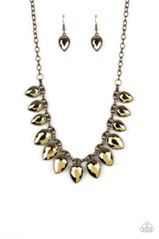Paparazzi Fearless is More-Brass Necklace