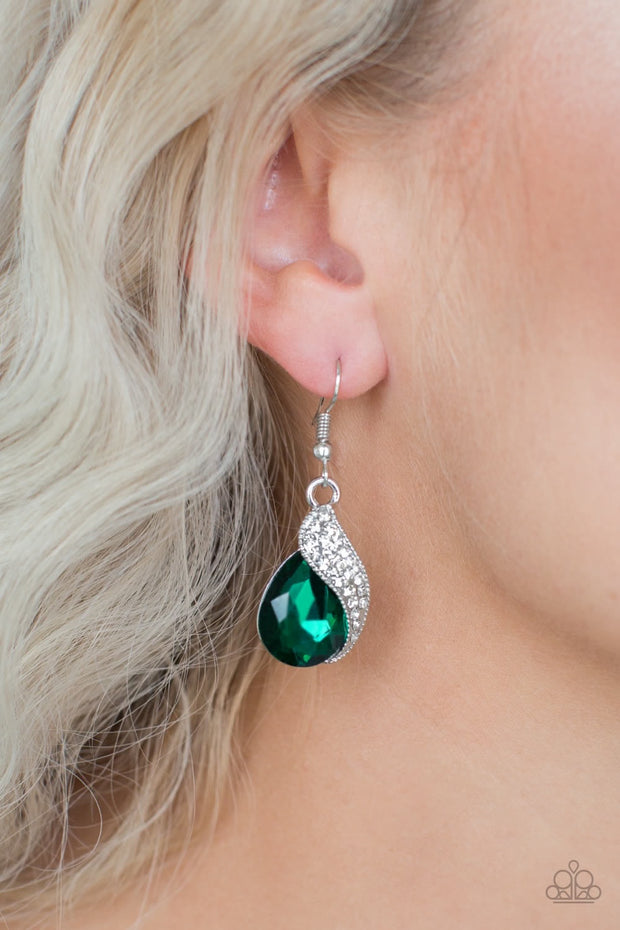 Paparazzi Easy Elegance Green Earrings - Glitzygals5dollarbling Paparazzi Boutique