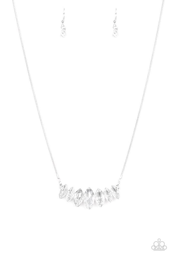 Paparazzi Leading Lady White Necklace