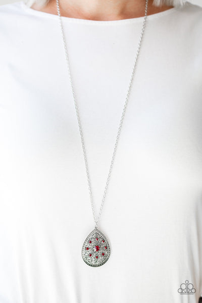 Paparazzi I Am Queen Red Necklace - Glitzygals5dollarbling Paparazzi Boutique