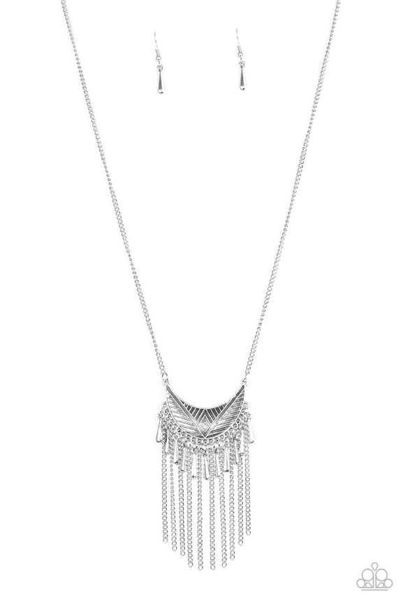 Paparazzi Happy Is The Huntress Silver Necklace