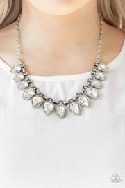Fearless Is More - white - Paparazzi necklace - Glitzygals5dollarbling Paparazzi Boutique