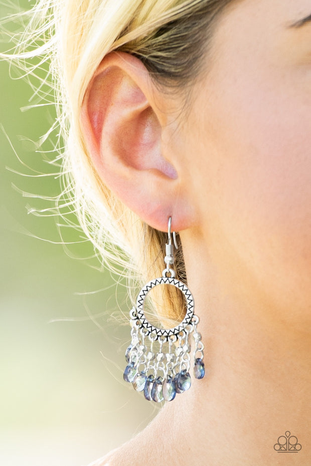 Paparazzi Paradise Palace Blue Earrings - Glitzygals5dollarbling Paparazzi Boutique