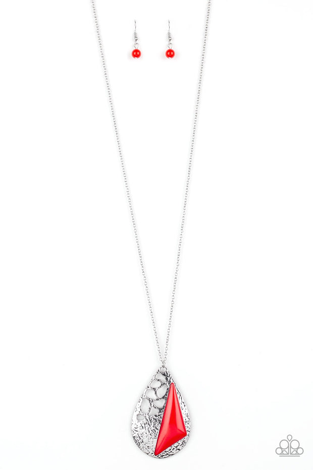 Paparazzi Impressive Edge Red Necklace - Glitzygals5dollarbling Paparazzi Boutique