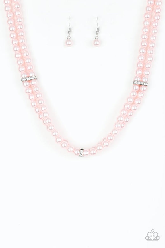 Paparazzi Put On Your Party Dress Pink Necklace