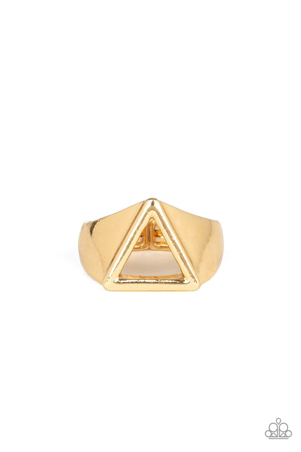 Trident - gold - Paparazzi mens ring - Glitzygals5dollarbling Paparazzi Boutique