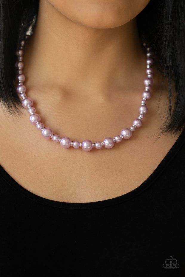 Paparazzi Pearl Heirloom-purple Necklace - Glitzygals5dollarbling Paparazzi Boutique