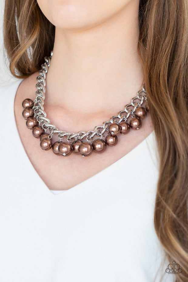 Paparazzi Get Off My Runway Brown Necklace - Glitzygals5dollarbling Paparazzi Boutique
