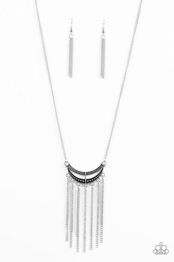 Paparazzi Mayan Moon Silver Necklace