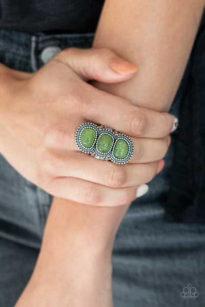 Radiant Rubble Green Paparazzi Ring