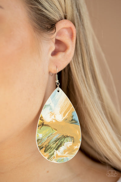 Paparazzi Mesmerizing Mosaic Multi Teardrop Earrings - Glitzygals5dollarbling Paparazzi Boutique