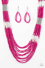 Paparazzi Let It BEAD - Pink Seed Bead Necklace - Glitzygals5dollarbling Paparazzi Boutique