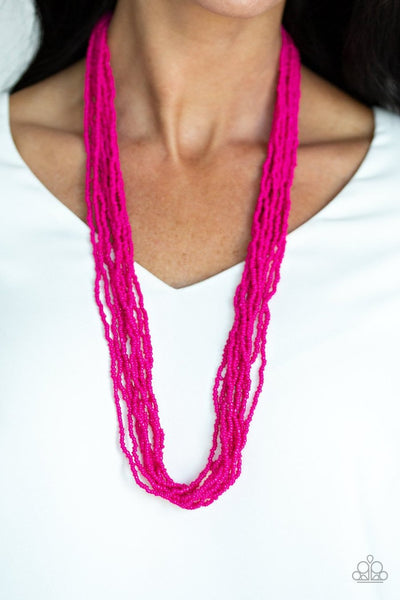 Congo Colada - pink - Paparazzi Seed Bead necklace - Glitzygals5dollarbling Paparazzi Boutique