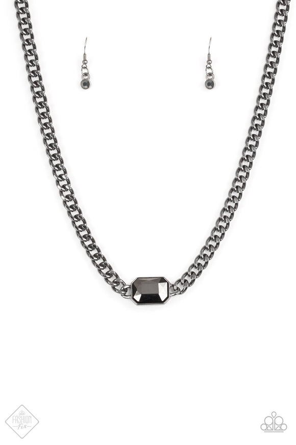 Paparazzi Catwalk Conqueror Black Necklace Fashion Fix Exclusive