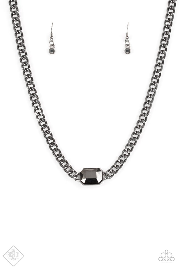 Paparazzi Catwalk Conqueror Black Necklace Fashion Fix Exclusive - Glitzygals5dollarbling Paparazzi Boutique