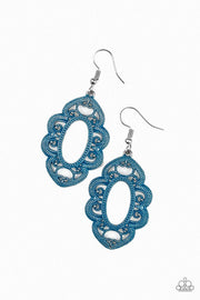 Paparazzi Mantras and Mandalas Blue Earrings - Glitzygals5dollarbling Paparazzi Boutique