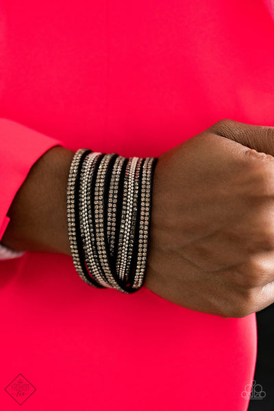 Paparazzi Royal Razzle Black Urban Bracelet Fashion Fix Exclusive - Glitzygals5dollarbling Paparazzi Boutique