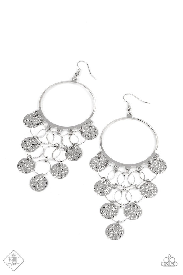 All CHIME High (2021) - silver - Paparazzi earrings - Glitzygals5dollarbling Paparazzi Boutique