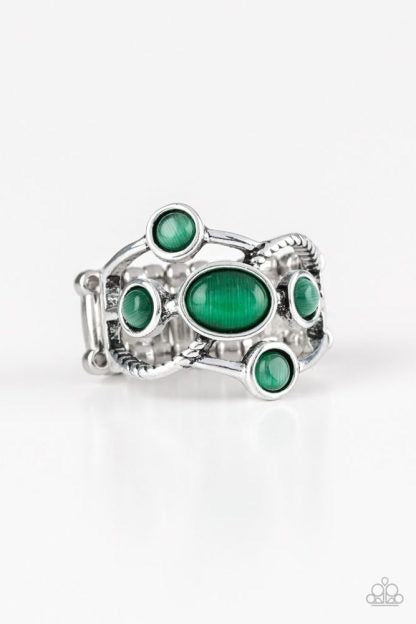 Paparazzi Moon Mood Green Ring - Glitzygals5dollarbling Paparazzi Boutique
