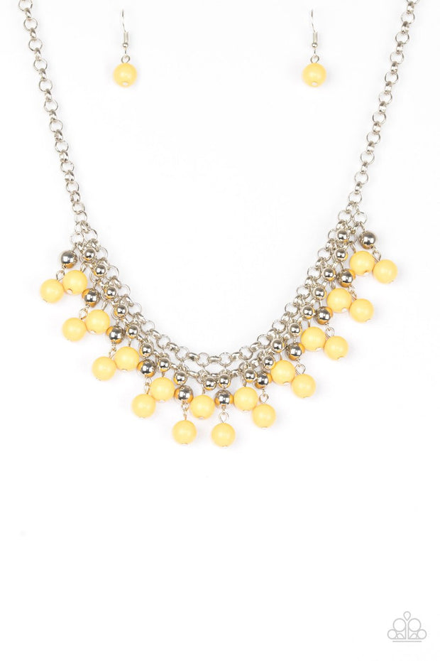 "Paparazzi ""Friday Night Fringe"" Yellow Necklace - Glitzygals5dollarbling Paparazzi Boutique"