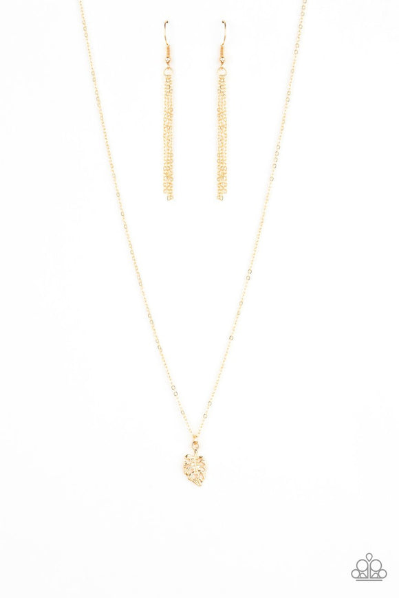 Paparazzi Palm Tree Retreat Gold Necklace