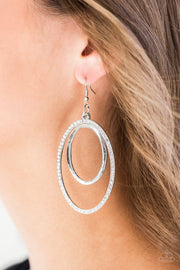Wrapped in Wealth - white - Paparazzi earrings - Glitzygals5dollarbling Paparazzi Boutique